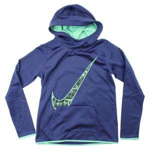 Nike Therma Dri-FIT Graphic Hoodie Top Dark Purple